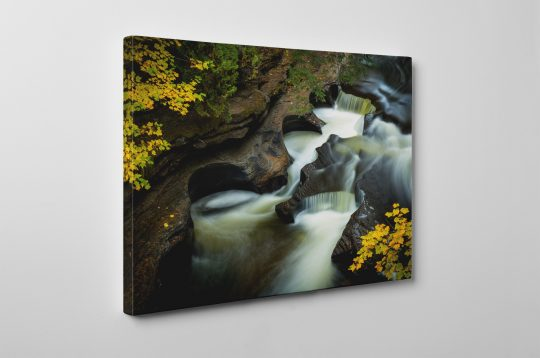 Presque Isle River Pothole Falls Canvas