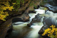 Presque Isle River Pothole Falls