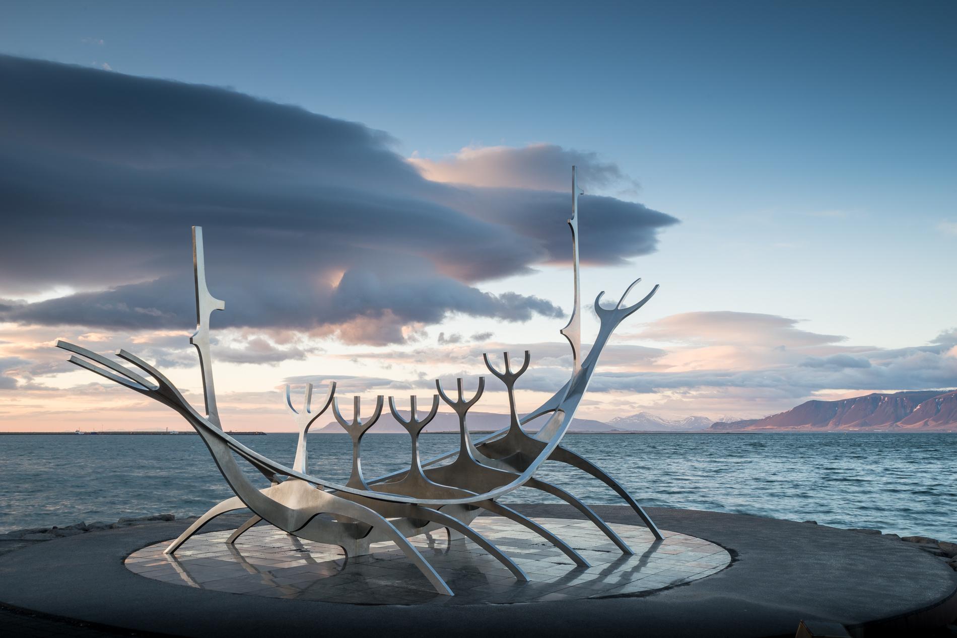 Sólfar, the Sun Voyager in Reykjavík