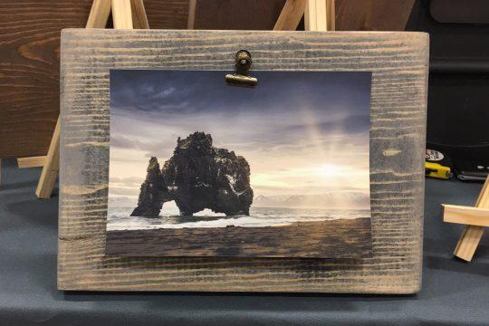 Hvítserkur Distressed Wood Frame