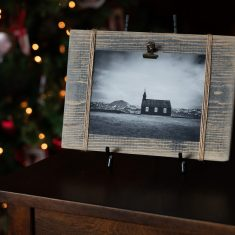 Black Church Distressed Frame