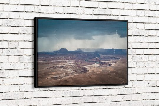 Approaching Storm at Green River Canvas with Black Frame
