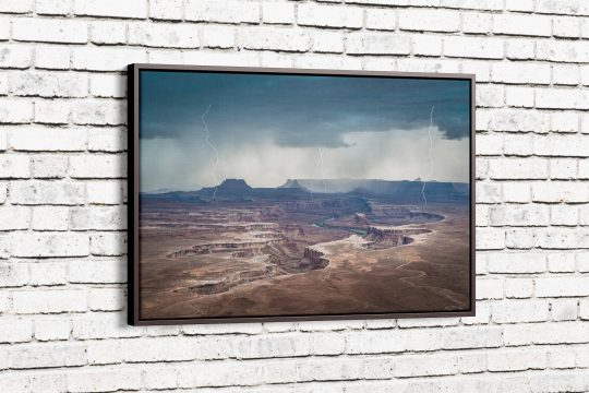 Approaching Storm at Green River Canvas with Espresso Frame