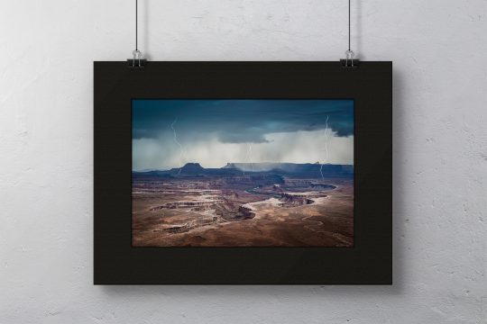 Approaching Storm at Green River in Black Mat