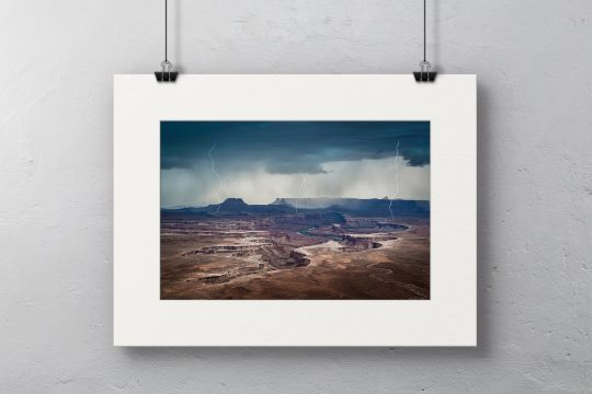 Approaching Storm at Green River in White Mat