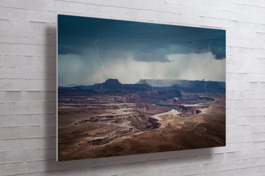 Approaching Storm at Green River Metal Print