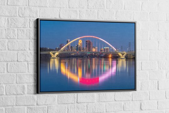 Lowery Ave. Bridge Gallery Wrap Floated in a Black Frame