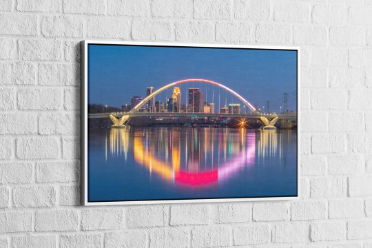 Lowery Ave. Bridge Gallery Wrap Floated in a White Frame