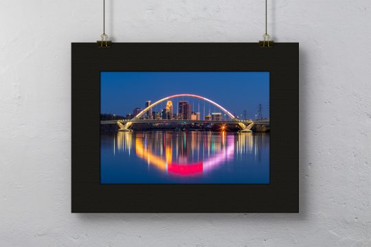 Lowery Ave. Bridge Print with Black Mat