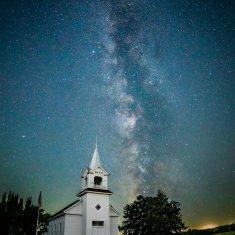 Milky Way over Zoar Church